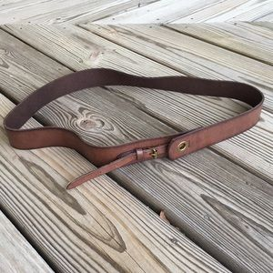 Ann Taylor LOFT Genuine Leather Brown Belt